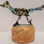 Road Runner pewter with a sand stone base