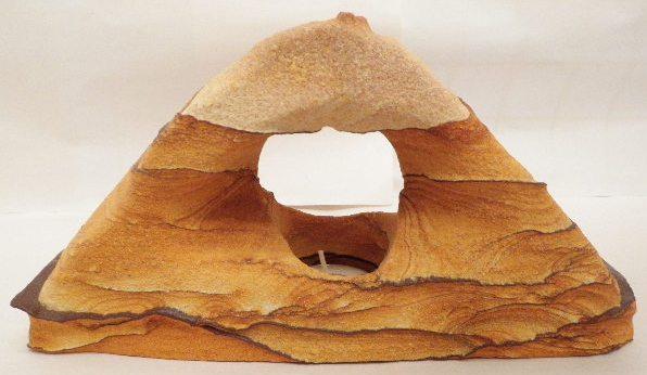Desert Sandstone triangle tea light
