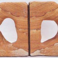 Desert sandstone bookends