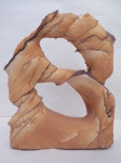 Desert sandstone wind rock