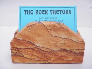 Desert sandstone business card holder