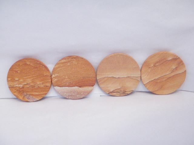 Desert sandstone coasters